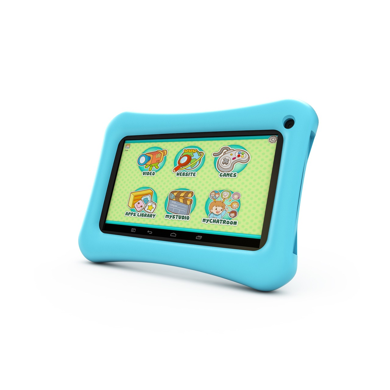 7 blue google android tablet