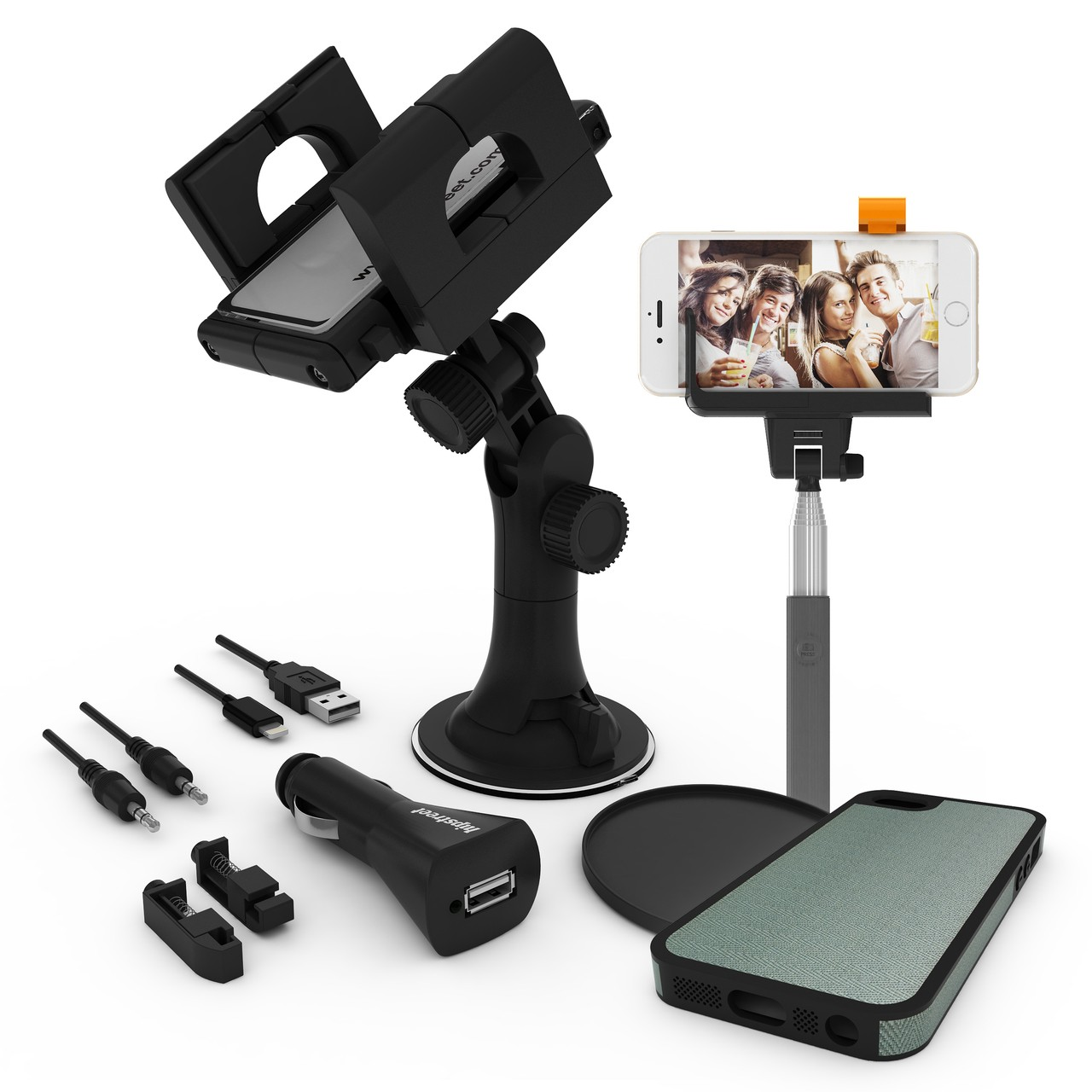 Hipstreet Bluetooth Selfie Camera Extension with iPhone® 5 Case and