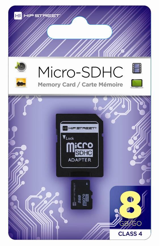 hipstreet micro sdhc gb card  adapter